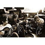 5 SECONDS OF SUMMER SIGNED PHOTO PRINT 2 - SUPERB QUALITY - 12 X 8 INCHES (A4)