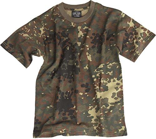 Kinder T-Shirt in verschiedenen Farben Farbe Woodland Größe L (Woodland Kids T-shirt Camouflage)