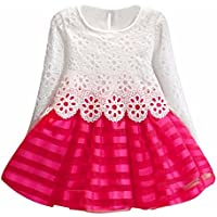 Culater® Le ragazze a maniche lunghe principessa Dress Hollow Flower