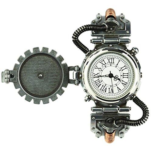 Homyl Reloj de Estilo Industrial de Rock Antiguo Reloj con Decoración