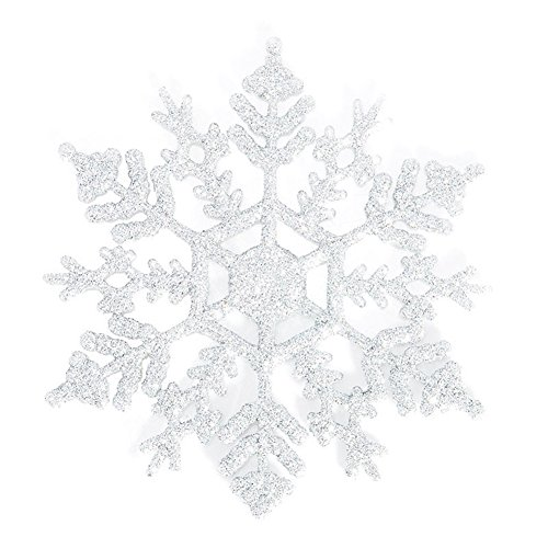 hl Schneeflocke Weihnachtsschmuck Xmas Tree Dekoration zum Aufhängen, plastik, weiß, Einheitsgröße (Fallen Klassenzimmer Dekorationen)