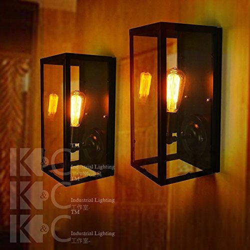 Yu-k parete di antiquariato vetro lamploftled caso quadri luce da parete è perfetto per bar ristorante coffee shop soggiorno camera da letto balcone