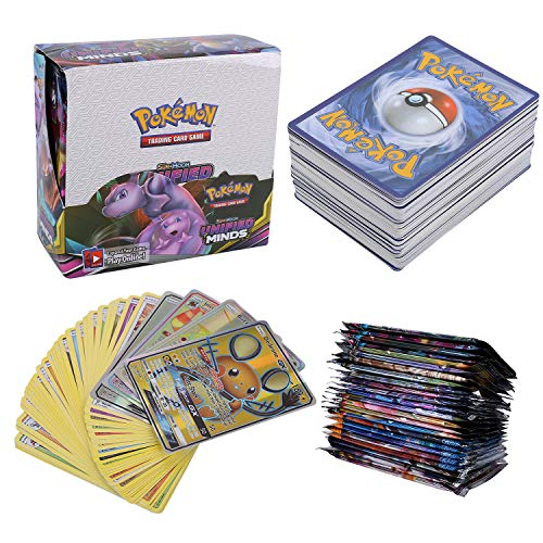 324Pcs Pokemon Cartes, Pokemon 36Pcs GX GX Cards, Sun & Moon Series, Unified Minds Series