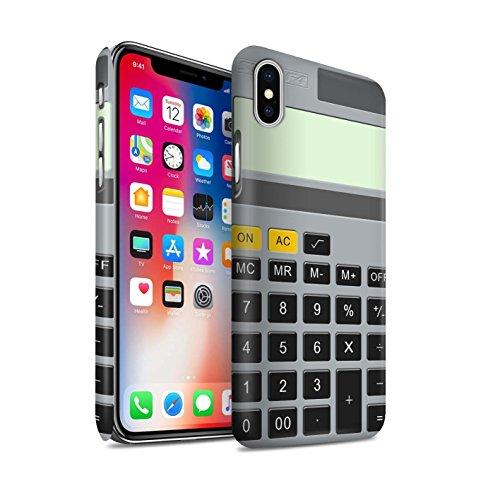 STUFF4 Matte Snap-On Hülle / Case für Apple iPhone X/10 / Tastatur Muster / Schaltfläche/Tasten Kollektion Kalkulator