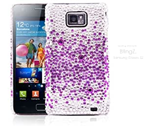 TheBlingZ Purple Silver Rhinestone Crystal Diamond Diamante Bling Bling Phone Case Cover for Samsung Galaxy S2 i9100 + Buy Now !!FREE Screen Protector