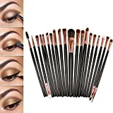 20 Stück Make Up Pinselset Makeup Bürsten Foundation Lidschatten Eyeliner Mascara Lippen Make-up Pinsel Kosmetik Set -Mit eine Rosa Tasche