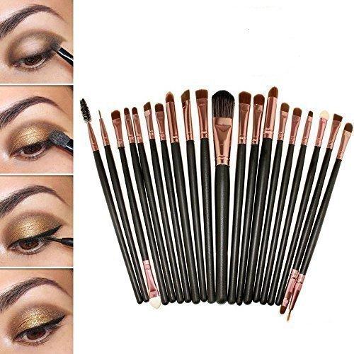 20 pcs kit de pinceaux maquillage pour les yeux brosse pour yeux