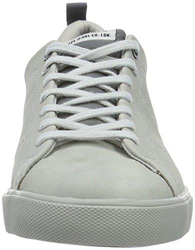 Pepe Jeans London Herren Marton Nubuck Low-Top Grau (Grey DAWN 919)