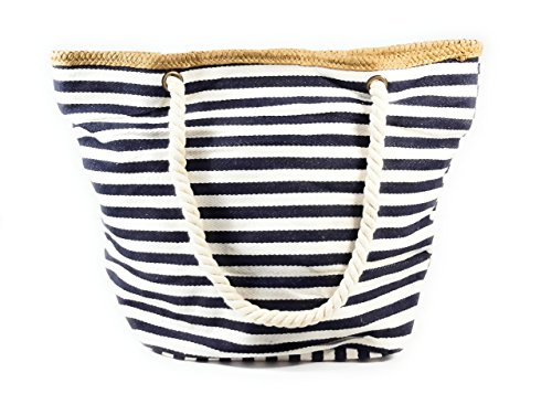 Borsa da Spiaggia Donna Borsa Mare Grande, Stella Vari Colore Blu Jeans Stella