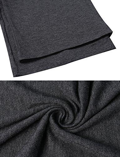 Aibrou Herren Modale Einfarbige Schlafanzughose Pyjamahose Nachtwäsche im Lässigen Stil Dunkelgrau