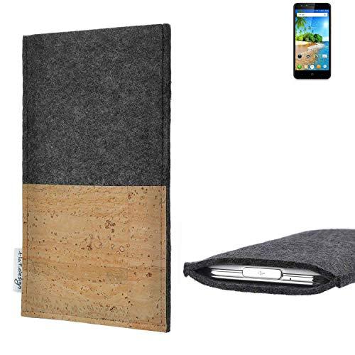 flat.design vegane Handy Hülle Evora für Doogee Y6C Kartenfach Kork Schutz Tasche handgemacht fair vegan