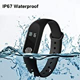 Lenovo S60 Sisley Compatible Fitness Tracker, Activity Tracker, Smart Wristband with OLED Screen Display, Dynamic Heart Rate Monitor,Time Display, Step Distance & Calories tracker, Call Notification, Pedometer, Sleep Detect, Smart Alarm Clock, Water Proof, Anti Lost Funtion Controlled with Smart App by Techify