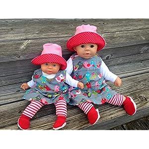 Puppenkleidung handmade Gr.36-38 cm ODER 46 -48 cm für z.B. my first Annabell Chou Cookie Lolle Winterset + Schuhe Vögelchen NEU