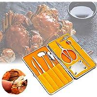 Conjuntos de Herramientas de Mariscos, 8 Piezas de Acero Inoxidable Cangrejo Tijera y Tenedores Conjunto, Herramienta de Cocina para Mariscos
