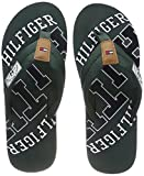 Tommy Hilfiger Herren Essential TH Beach Sandal Zehentrenner, Grün (Jungle Green 300), 44 EU