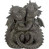 Süsser Gartendrache verliebt Drache Figur Gartenfigur 25 cm