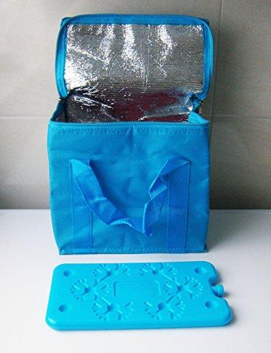 KÜHLTASCHE 7L 25x23cm KÜHLAKKU Isoliertasche Thermotasche Tasche Kühlbox Camping 3-Varianten 47