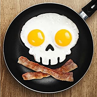 amazing-trading HOT SALE Side Up Skull Silicone Egg Art Mould Halloween Breakfast Mold Frame