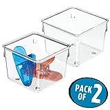 mDesign Set da 2 portaoggetti - due portautensili da cucina, bagno o soggiorno - Organizer con design elegante - Colore: trasparente