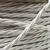 Cable flexible trenzado para iluminación (cubierto de tela 0,5mm 3x Core Blanco