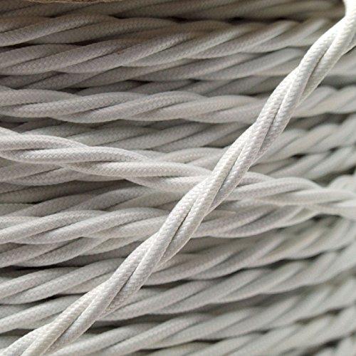 Filo elettrico a spirale rivestito in tessuto intrecciato, cavo flessibile