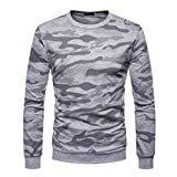 DAYSEVENTH MEN-TOPS Men's Autum Winter Camouflage O-Neck Solid T-Shirt Short Sleeve Top Blouse
