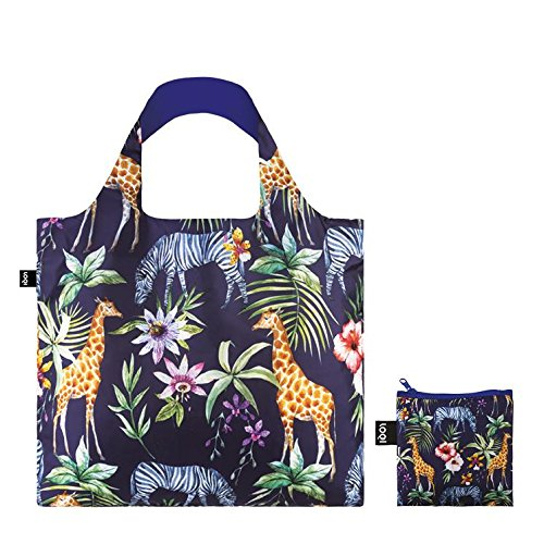 WILD Birds Bag: Gewicht 55 g, Größe 50 x 42 cm, Zip-Etui 11 x 11.5 cm, handle 27 cm, water resistant, made of polyester, OEKO-TEX certified, can carry up to 20 kg Zebras