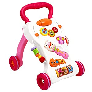 Peradix Baby Walker Multifunctional Musical Sit-to-Stand Learning Walker