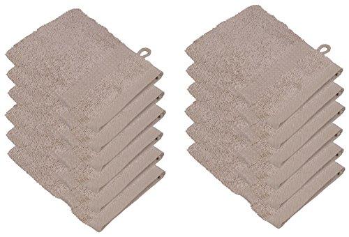 starlabels Serviettes Disponible en 15 couleurs et 5 dimensions doux saugstark 500 g/m², 100% coton, Öko Tex, Coton, beige, 15 cm x 21 cm