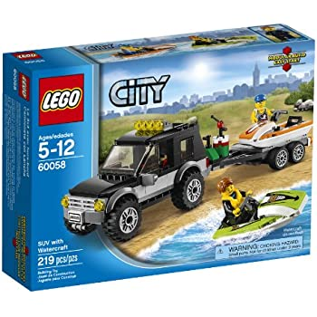 Lego City camping-car avec bateau–Jeux de construction (Multicolore, 5Année (s), 219pièce (s), 12ans (s))