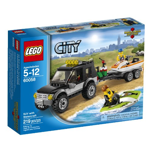 LEGO City Wohnmobil mit Bateau-Spiele BAU (Mehrfarbig, 5Jahr (S), 219Münze (S), 12Jahre (S)) (Lego-münzen)