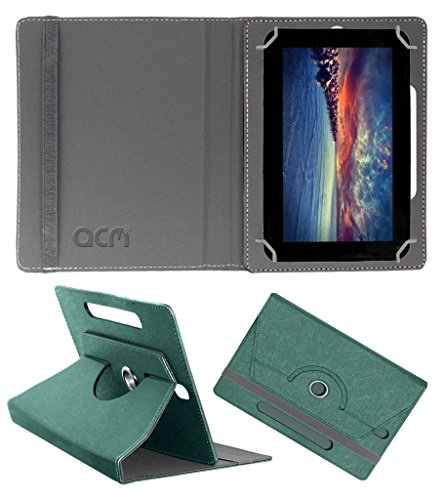 Acm Designer Rotating Leather Flip Case for Zync Dual 7i Cover Stand Turquoise  available at amazon for Rs.169
