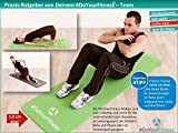 Portable Fitnessmatte »Sharma« / dick und weich, ideal für Pilates, Gymnastik und Yoga, Maße: 183 x 61 x 0,8cm, grau -