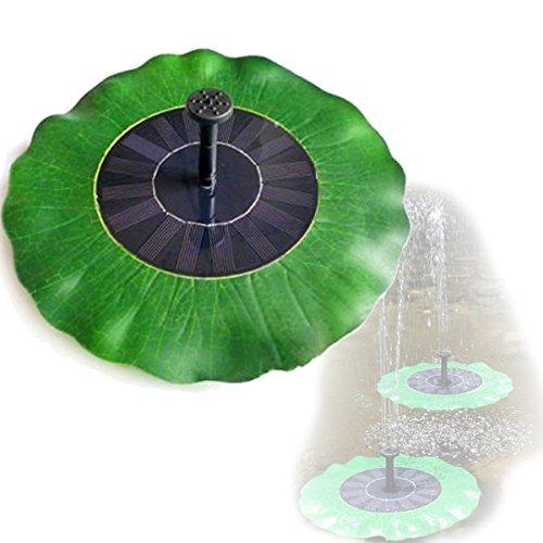 Mini Solar Brunnen LOTUS LEAF Muster Floating Spray Bird - (Floating-spray-brunnen)