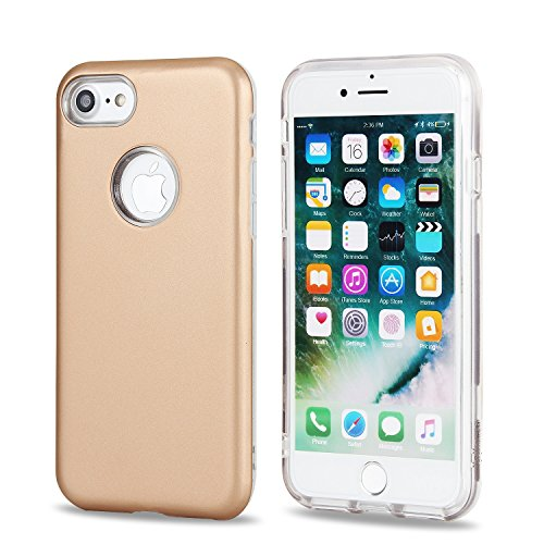 Housse pour Apple iPhone 7, Coque Pour IPhone 7 Dual Layer PC + TPU Hybrid Shell Ultra mince Slim Case pour Apple iPhone 7 ( Color : Gold ) Gold