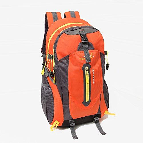 freedom-vp sport 40l impermeabile Outdoor escursioni campeggio viaggio zaino Pack Exploring trekking climbing zaino di scuola di borsa, Red Orange