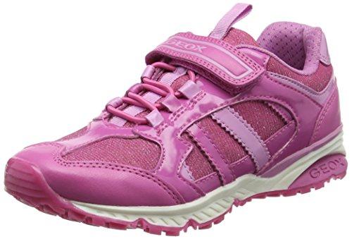 Geox Mädchen J Bernie Girl D Sneaker, Pink (Fuchsia/Pink), 32 EU (Girls Kinder Turnschuhe)