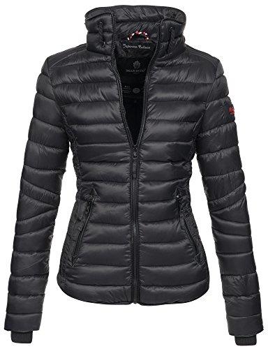 Marikoo Damen Jacke Steppjacke Übergangsjacke gesteppt mit Kordeln Frühjahr Camouflage B405...