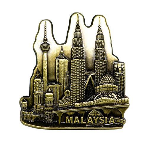 zamonji Kuala Lumpur Tower, Petronas Twin Towers, Dataran Merdeka, Malaysia 3D Metall Kühlschrankmagnete Welt Tourismus Souvenirs -