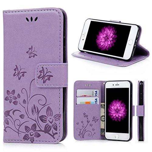 iPhone-7-Custodia-Pelle-Turata-Cover-Filp-con-la-cordicella-Disegno-Supporto-Stand-Porta-Carte-e-Protettiva-Flip-Portafoglio-Case-con-chiusa-Magnetica-per-iPhone-7Porpora