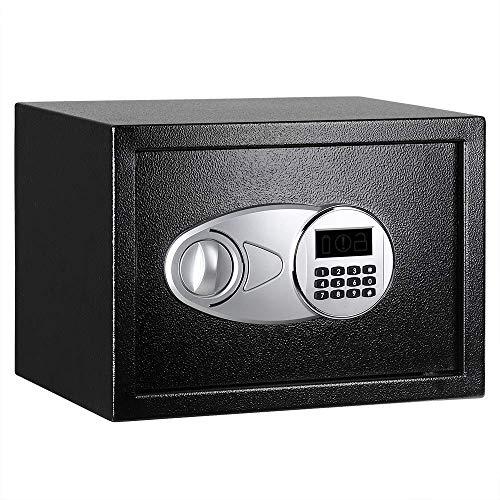 AmazonBasics - Caja fuerte 14L, color negro