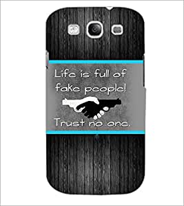PrintDhaba Quote D-2564 Back Case Cover for SAMSUNG GALAXY S3 (Multi-Coloured)