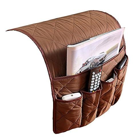 Puting Space Saver étanche Canapé Chaise Organiseur pour accoudoir, compatible avec pour téléphone, livres, Magazines, support de télécommande de téléviseur