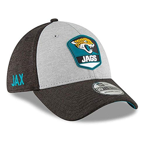 New Era NFL Jacksonville Jaguars Authentic 2018 Sideline 39THIRTY Stretch Fit Road Cap, Größe :S/M - Stretch Fit Hut