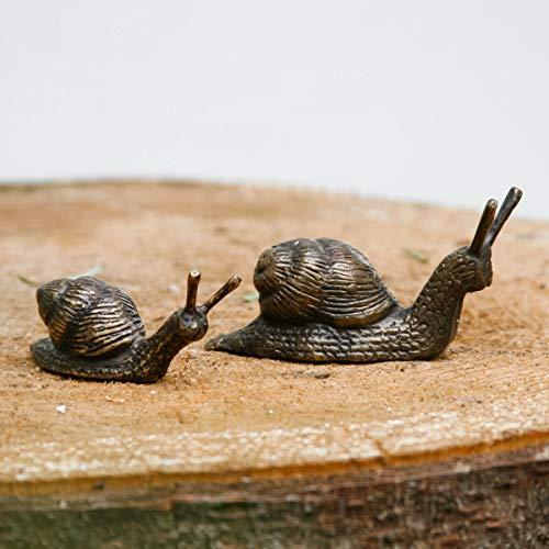 Gartenfigur Schnecken Elba, 2er-Set, Bronze