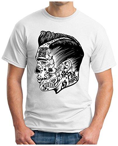 OM3 - PSYCHO-BILLY - T-Shirt, S - 5XL Weiß