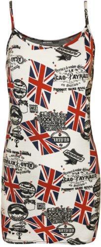 WearAll - Imprimé débardeur top - Haits - Femmes - Tailles 36 à 42 Union Jack