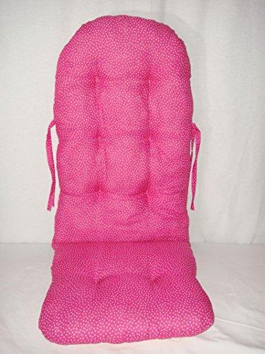 Schaukelstuhl Auflage Polster Kissen Farbe ' pink mit Punkte weiß '