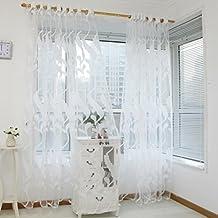 BZLine® 1 Panel Weizen Sheer Gardine Tüll Fensterbehandlung Voile Vorhang ( Weiß)