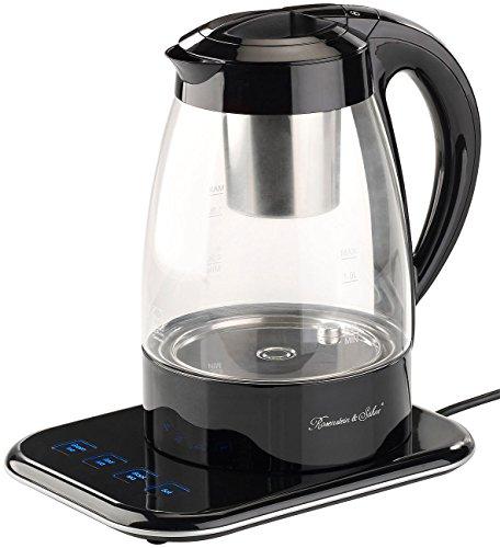 Rosenstein & Söhne Wasserkocher, schnurlos: Vollautomatischer Wasserkocher und Teebereiter WSK-500.tmp, 1,2 l (2in1-Wasserkocher und Teebereiter)